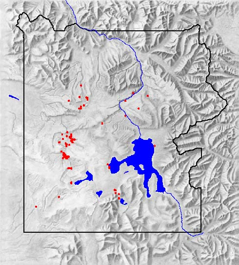 Yellowstone National Park: geyser map