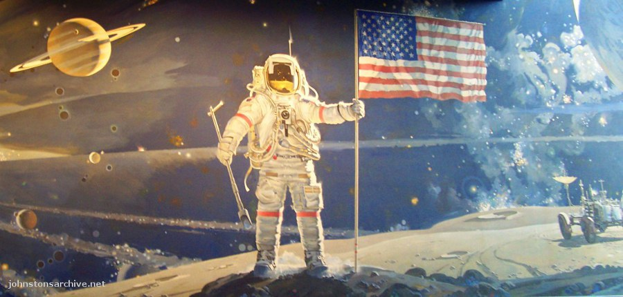 Astronaut with Flag - Pics about space