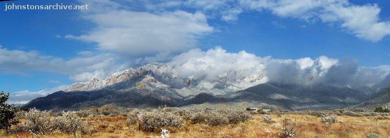 Sandia Mountains Snow Snow Clouds on The Sandias