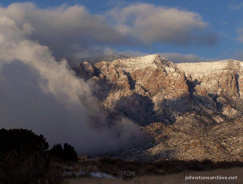 Sandia Mountains Snow Snow Moving in on The Sandias