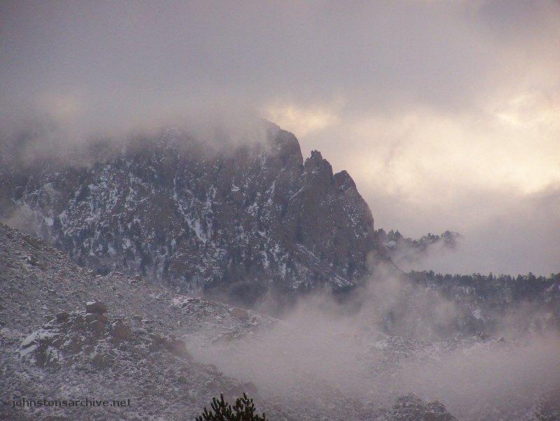 Sandia Mountains Snow New Mexico Sandia Mountains